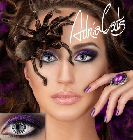 Карнавальные цветные линзы Adria Crazy Spider Web (паутина)