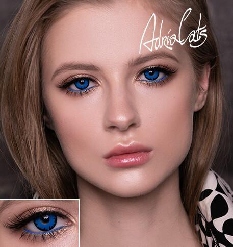 Карнавальные голубые цветные линзы Adria Crazy Blue Angelic (голубой ангел)