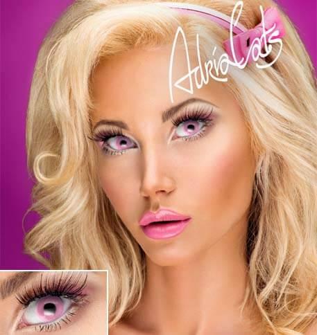 Карнавальные цветные линзы Adria Crazy Pink (розовый)