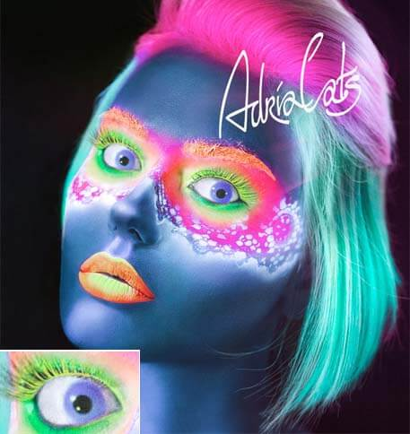 цветные линзы которые светятся Adria Neon Violet (фиолетовый)