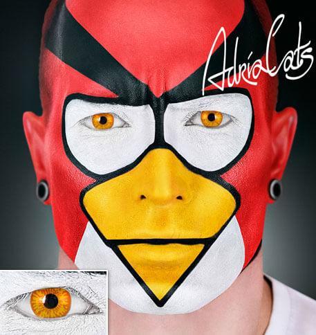 Карнавальные желтые цветные линзы Adria Crazy Eagle (орел)