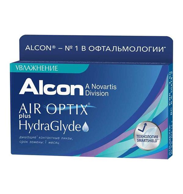 AIR OPTIX® PLUS HYDRAGLYDE (3 линзы)